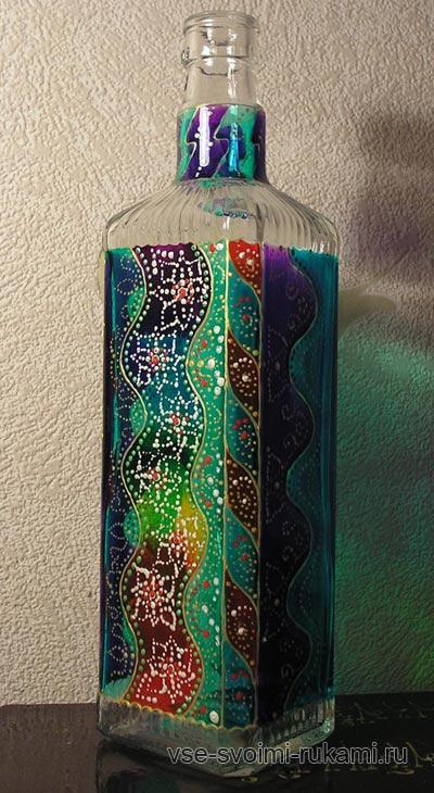 роспись на бутылках