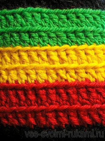 вязание растаманской шапки