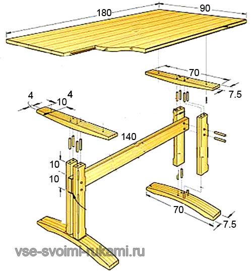 стол кухонный деревянный с