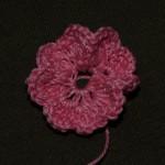 вязаный цветок крючком с описанием