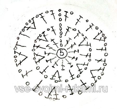 шестиугольник крючком схема