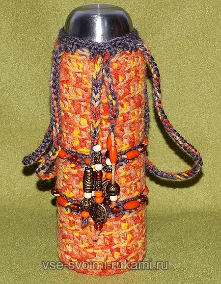 сумка для термоса крючком
