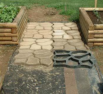 садовая дорожка из готовой формы