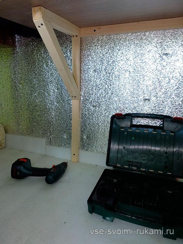 Рабочий стол с креплением к стене 13