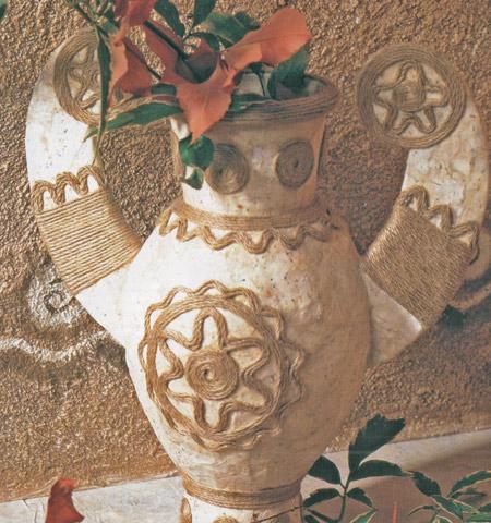 ваза из папье маше