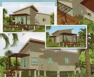 проект дома на сваях