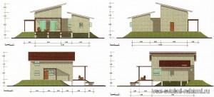 проект дома на свайном фундаменте