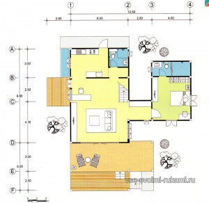 проект дома на сваях 1