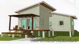 бесплатный проект дома на сваях