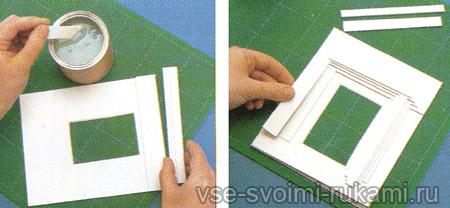 Рамка для портрета из бумаги