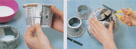 ваза из папье маше 1