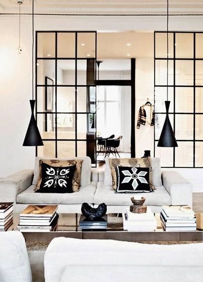 гостиная в черно-белом5