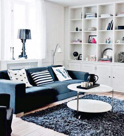черно-белый интерьер гостиной3
