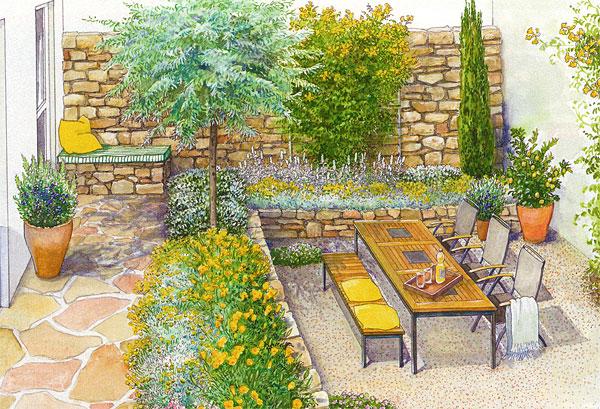 Вариант оформления двора дома 1