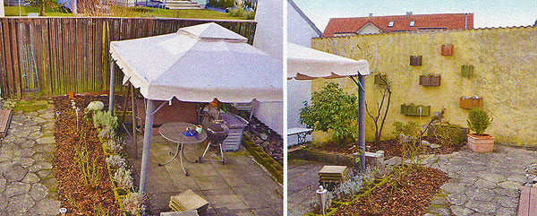 Исходный вариант двора дома