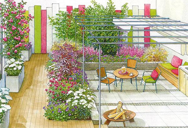 Оформление двора дома - вариант 2