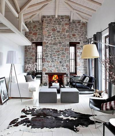 гостиная в черно-белом2