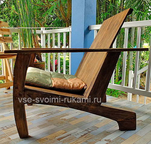 Кресло вид сбоку