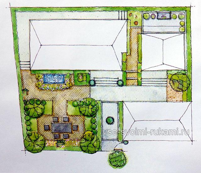 План схема участка 4 сотки