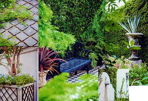 Детали ландшафтного дизайна сада