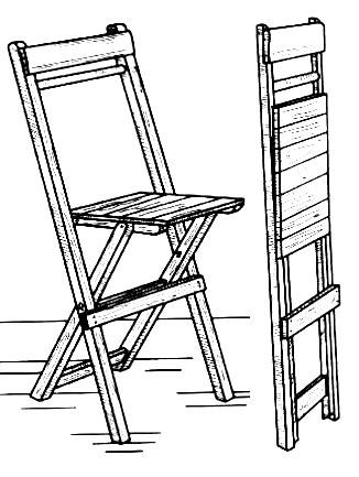 Делаем складной стул из дерева своими руками