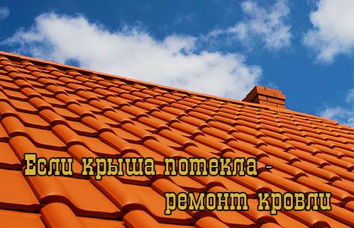 Если протекает крыша - ремонт кровли своими руками