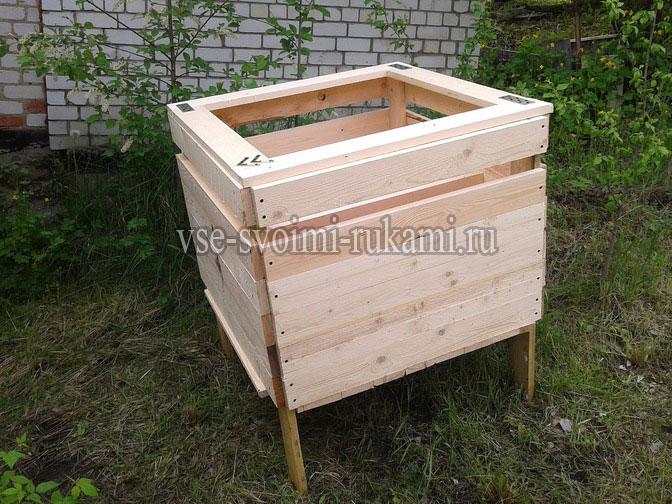 Ящик для хранения картофеля в подвале зимой