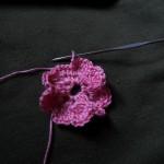 вязаный цветок мастер класс 6