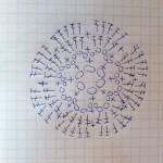 вязаный цветок крючком схема